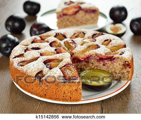Пирог на кефире со сливами в мультиварке рецепты с фото
