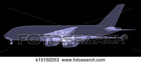 手绘图 - 大, 飞机