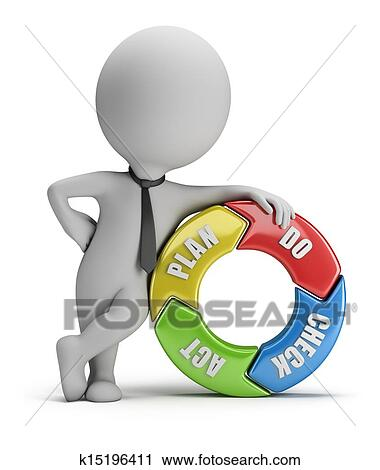 clipart 3d small people plan do check act fotosearch search clip art check small