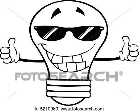 贴画 概述, 灯泡, 带, 太阳镜