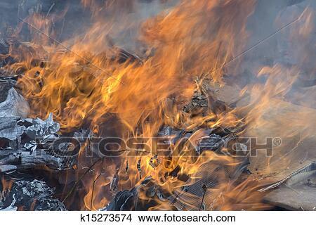 Burning Garbage Illegal Stock Photo Burning Garbage