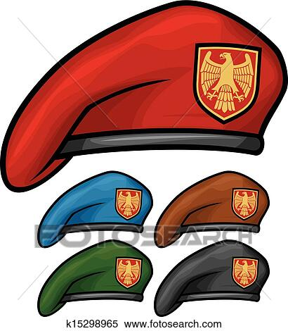 Clipart of military beret (beret collection) k15298965 ...