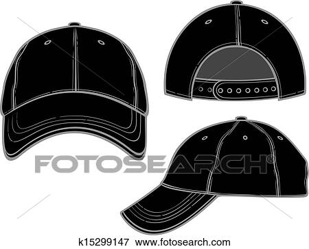 Clip Art of black baseball cap k15299147 - Search Clipart ...