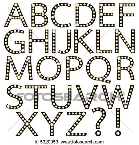 手绘图 黑色, broadway, 灯泡, 字母表