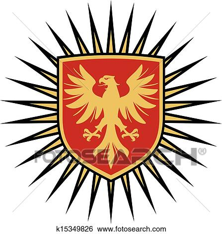 Clip Art of eagle coat of arms design k15349826 - Search ...