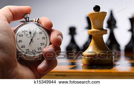 Stock Foto - hölzern, schachbrett, mit, schachfiguren. Fotosearch - Suche Stockbilder, Wandbilder, Bilder und Clip-Art Fotos