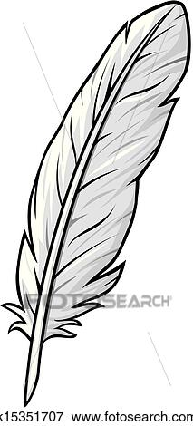 Clip Art of feather k15351707 - Search Clipart ...