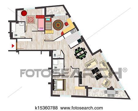Images maison plan implantation k15360788 recherchez for Plan implantation maison