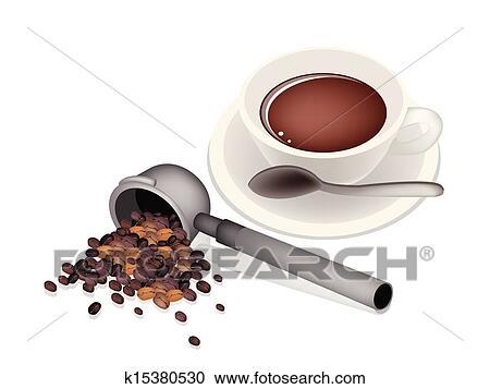 clipart filter halter f r kaffeemaschine mit hei er kaffee k15380530 suche clip art. Black Bedroom Furniture Sets. Home Design Ideas