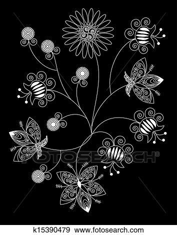 Clipart Bouquet De Blanc Model Fleurs K15390479 Recherchez Des Cliparts Des