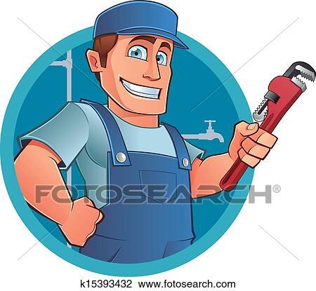 Clipart - idraulico k15393432 - Cerca Clipart ...