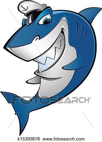 剪贴画 - 海员, 鲨鱼图片