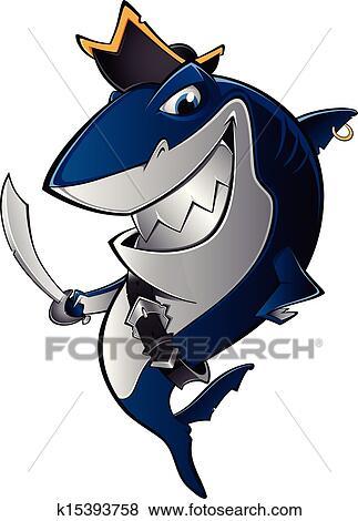 剪贴画 - 鲨鱼, 海盗图片