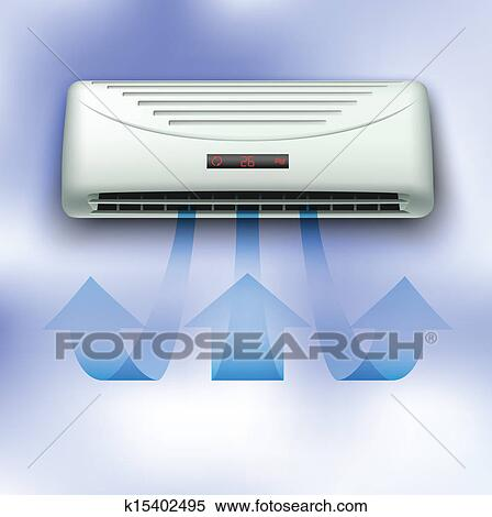 Clipart of air conditioner k15402495 search clip art for Air conditionn mural