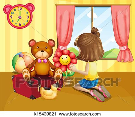 house inside clipart. clipart a child arranging her toys inside the house fotosearch search clip art n