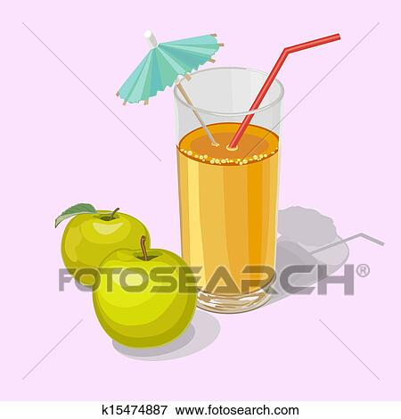 Clip Art of apple juice k15474887 - Search Clipart, Illustration ...