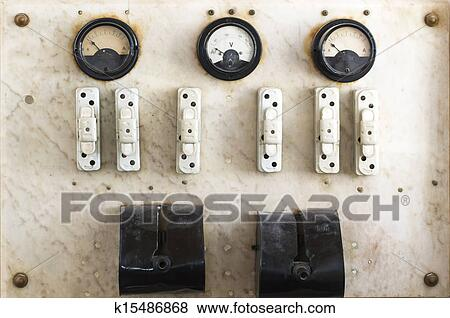 pictures of vintage fuse box and switch k15486868 search stock picture vintage fuse box and switch fotosearch search stock photos images