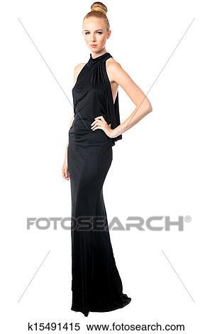 Stock bild sch n mannequin in ein abendkleid for Elegante wandbilder