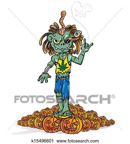 Clipart zombi rocher dessin anim k15496601 recherchez des clip arts des illustrations - Rocher dessin ...