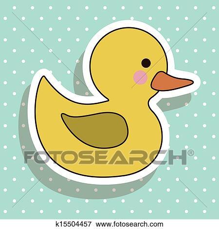 剪贴画 - 小鸭图片