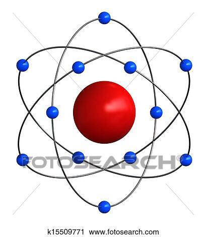 剪贴画 - 原子的结构
