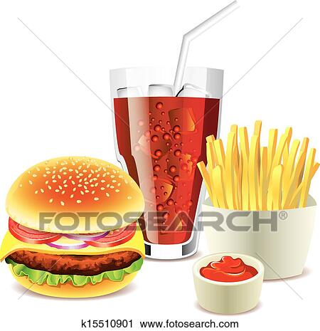 Hamburger And French Fries Clipart