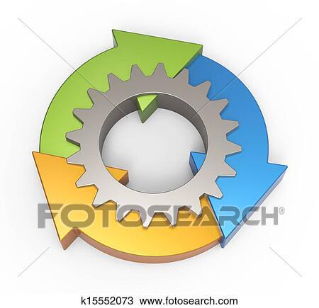 Process Flow Clipart