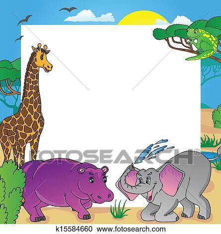 剪贴画 - african, 框架