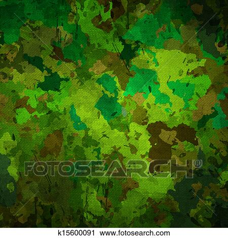 Clipart of camouflage military background k15600091 for Camouflage mural