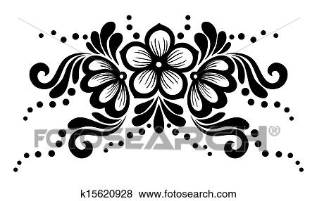 Lace Flowers Drawings Black And White Lace Flowers