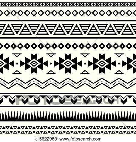 Clipart of Aztec mexican seamless pattern k15622963 ...