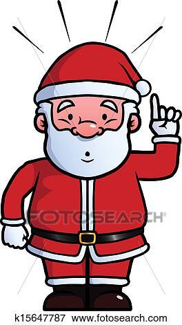 剪贴画 - 圣诞老人, 有