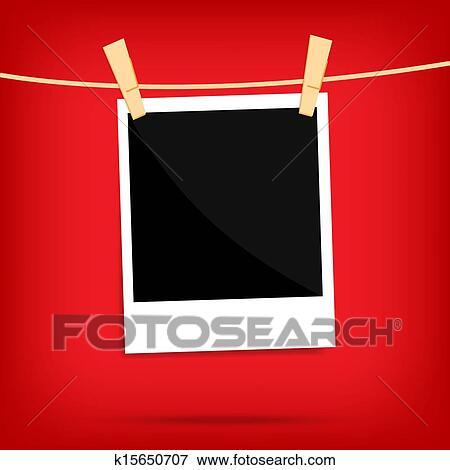 Stock illustration popul r memo polaroid foto auf for Polaroid wand