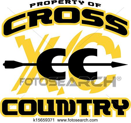 clipart of cross country design k15659371 search clip