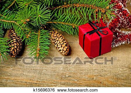 创意设计图片在线 - 圣诞节, fir树, 带, 松果, 同时图片