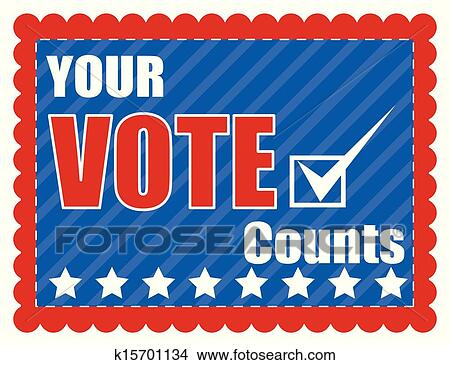 Clipart of Your Vote Counts - Election Day k15701134 - Search Clip ...