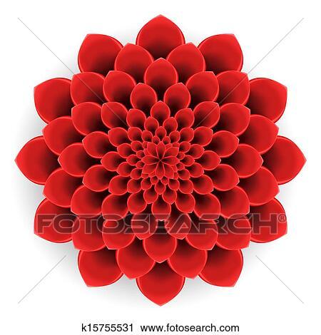 剪贴画 - 美丽, 纸花