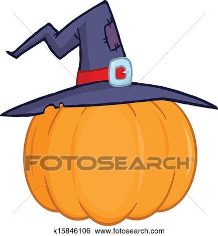 Clipart citrouille a chapeau magicien k15846106 recherchez des cliparts des - Dessin de chapeau de magicien ...