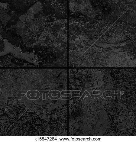 그림 - 4, 검은 대리석, 직물 k15847264 - 클립 아트 일러스트레이션 ...