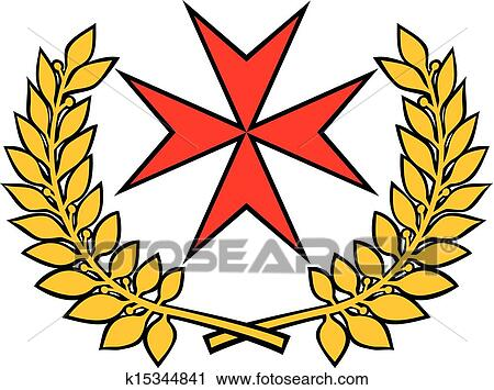 clipart of maltese cross k15344841 search clip art illustration rh fotosearch com  free maltese cross graphics