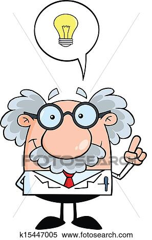 Clipart - Professor With Good Idea. Fotosearch - Search Clip Art, Illustration Murals, Drawings and Vector EPS Graphics Images