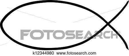 clipart of religious jesus fish k12344980 search clip art rh fotosearch com jesus fish clipart free jesus fish clipart