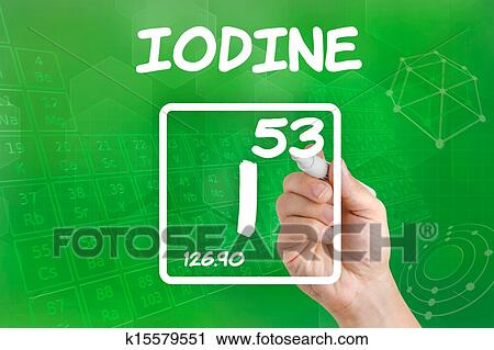 Clipart of symbol for the chemical element iodine k15579551 clipart symbol for the chemical element iodine fotosearch search clip art illustration urtaz Image collections