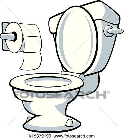 Clip Art Of Toilet K15379199