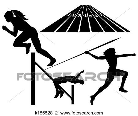 clipart of track and field k15652812 search clip art illustration rh fotosearch com track and field clipart pictures track and field clip art border