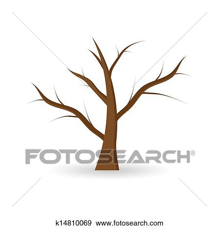 clip art of tree without leaves k14810069 search clipart rh fotosearch com Tree Leaves Clip Art tree without leaves clipart black and white