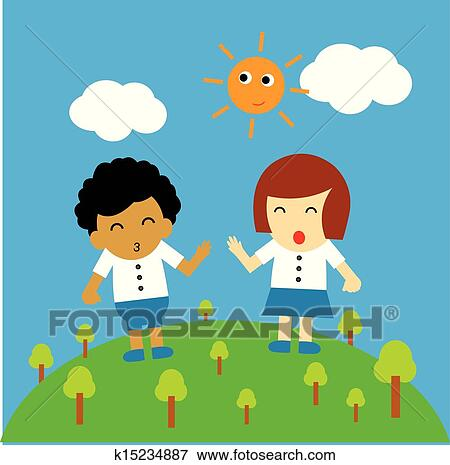 clip art of vector cartoon k15234887 search clipart illustration rh fotosearch com good afternoon clipart good afternoon clipart gif
