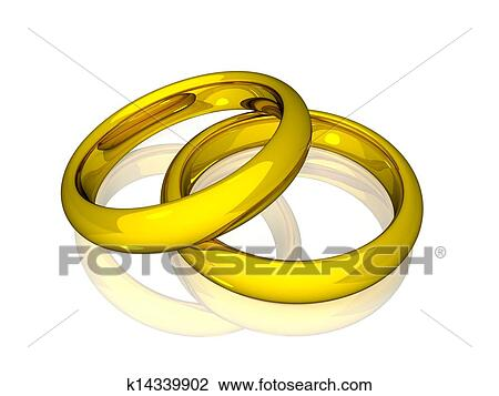 Clip Art   Wedding Rings   Gold. Fotosearch   Search Clipart, Illustration  Posters,