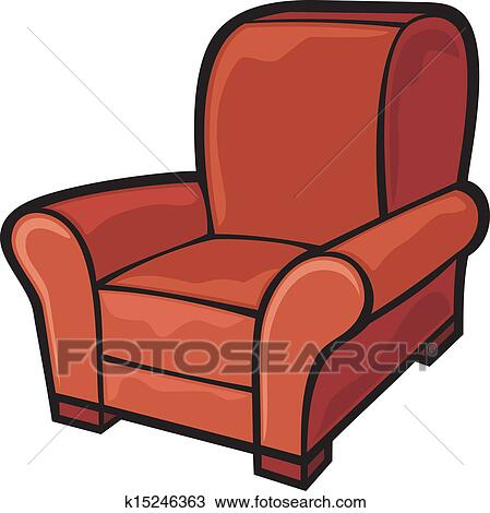 cartoon sofa chair. Clipart - Armchair (leather Tub Chair). Fotosearch Search Clip Art, Illustration Cartoon Sofa Chair O