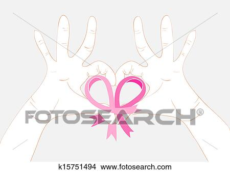 Clipart Of Breast Cancer Awareness Concept Illustration Ribbon